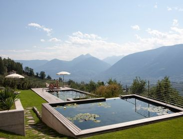 Hotel Pool in Alpine Location in South Tirol