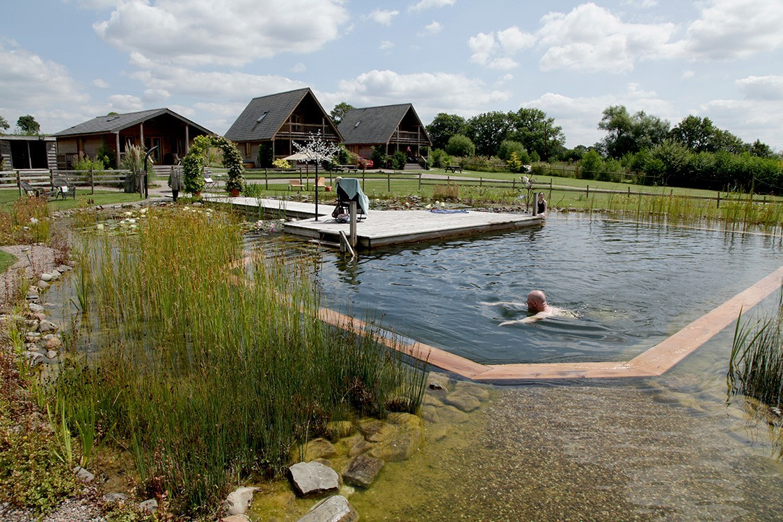 natural pool for hotel in idyllic and rural location
